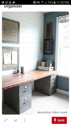 Inspirational Desk Made From Door and File Cabinets