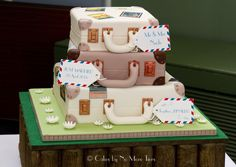 Suitcase cake! | Travel themed event | Pinterest | Suitcase cake ...
