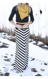 Chevron Maxi Skirt - Apostolic Clothing $49 I have one like this but still looooove it!