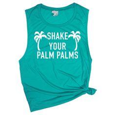 Beach Vacation Shirt Palm Tree Tank Top Beachy Shirts Vacay Muscle Tee Women With Sayings