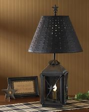 Park Designs Blackstone Star Antique Colonial Replica Lantern Lamp & Night Li...