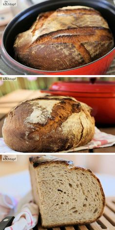 bread baked in a pot - a blast! - Cracker bread from the pot with a cracking crust and juicy crumb! -Country bread baked in a pot - a blast! - Cracker bread from the pot with a cracking crust and juicy crumb! - Miracle No Knead Bread! Salad Recipes Healthy Lunch, Salad Recipes For Dinner, Chicken Salad Recipes, Healthy Salad Recipes, Vegetarian Recipes, Dessert Recipes, Easter Recipes, Dinner Healthy, Party Desserts