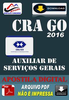 Apostila Digital Concurso CRA GO Auxiliar de Servicos Gerais 2016