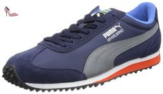 Puma  Whirlwind Classic Leather, Low-top homme - Bleu - Blau (peacoat-steel gray 13), 43 EU - Chaussures puma (*Partner-Link)