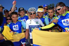 ANNECY, FRANCE - JULY 20: Best young rider Nairo Quintana of Colombia and…