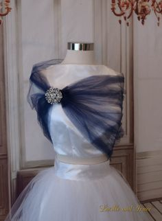 last chance Blue Pashmina with White and Silver Sparkles Circle Designs