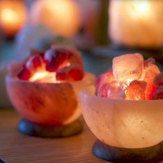 Buy aromatherapy Himalayan salt crystal bowls for serenity health and beauty. Fair Trade, exceptional quality, glowing fire bowls of Himalayan salt Himalayan Salt Crystals, Himalayan Salt Lamp, Crystal Serenity, Apollo Box, Salt And Light, Fire Bowls, Led Night Light, Crystal Lamps, Vestidos