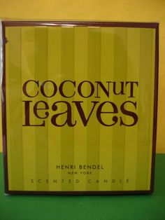 Henri Bendel     1 New in box Henri Bendel Large Full Size 9.4 oz Coconut Leaves Candle .   Description: Coconut Leaves blends with rich sweetness of