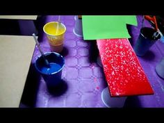 YouTube Acrylic Pouring, Lava Lamp, Videos, Tableware, Youtube, Irene, Painting, General Crafts, Paper Art Design