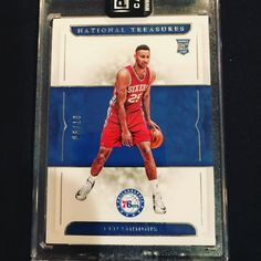 I'm selling my National Treasures Ben Simmons Rookie Card ! Hit me up with an offer if your interested the last few sold on EBay raw for $3000 ish .. #bensimmons #rookiecard #nationaltreasures #panini #nba #basketball #76ers #sixers #philadelphia #collect #showyourhits #thehobby #forsale #offersaccepted #ebay #monsterhit