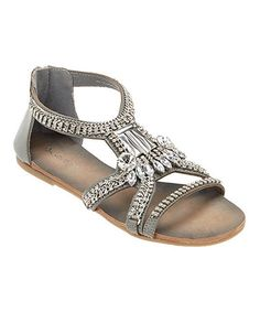 Another great find on #zulily! Gray Glare Leather Sandal by Matisse #zulilyfinds