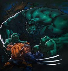 Hulk meets Wolverine... by MinohKim.deviantart.com on @deviantART