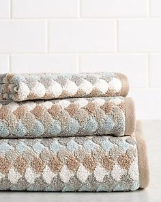 """Caro Home """"Salina"""" 3pc Towel Set https://www.ruelala.com/boutique/80374/ More colors available"""
