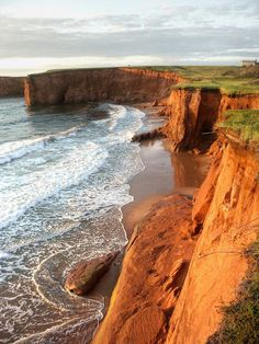 The Iles de la Madeleine (Magdalen Islands) in Quebec O Canada, Canada Travel, Alberta Canada, Province Du Canada, Beautiful World, Beautiful Places, Atlantic Canada, Ville France, Prince Edward Island