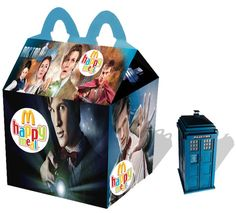 Artist Recreates Happy Meal Packaging With an Amusing Pop Culture Twist - My Modern Met Happy Meal Box, 11th Doctor, Hello Sweetie, Dr Who, Superwholock, Tardis, Mcdonalds, The Walking Dead, Mini