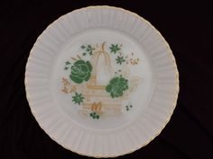 Termocrisa Mexico Fire King Anchor Hocking Milk Glass Vintage China Dinner Plate Flower Basket Design Glassware by colonialcrafts on Etsy by colonialcrafts on Etsy #v2team #colonialcrafts #homespunsociety #epsteam #A4 team vintageMI team #ofg #seca #teamcac #sct