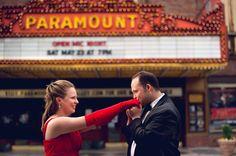 Theater Engagement - Hudson Valley NY Wedding Photographer