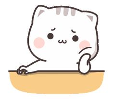 LINE Stickers Cutie Cat-Chan Jimao,Cutie Cat-Chan is coming again !,Stickers,Animated Stickers,Example with GIF Animation Cute Love Pictures, Cute Love Gif, Cute Cat Gif, Cute Images, Cute Bear Drawings, Cute Cartoon Drawings, Cute Kawaii Drawings, Chibi Cat, Cute Chibi