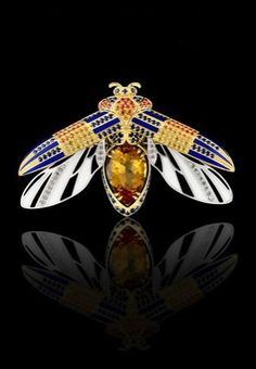 Master Exclusive Jewellery, collection World of Insects, citrine and enamel brooch