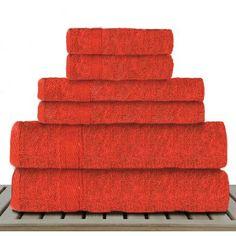 Linen Depot Direct Sandra Venditti 6 Piece Bamboo Rayon Towel Set Color: