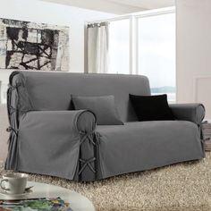 Housse de canapé 3 places Victoria Gris : choisissez parmi tous nos produits Housse de canapé