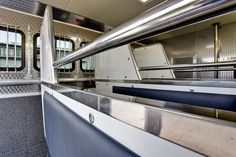 JM Horsebox horse area with stainless steel four pin partitions
