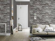 With brick wallpapers you can get minimalist rooms at the same time . Minimalist Room, Brick Wallpaper, Ideas Para, Exterior, House, Furniture, Home Decor, Boston