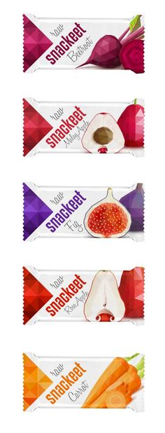 I'm a fan of the minimalist packaging, and how the fruit has a very and cartoonish appearance after being broken down to triangular shapes Packaging Snack, Cool Packaging, Food Packaging Design, Brand Packaging, Branding Design, Label Design, Box Design, Package Design, Graphic Design
