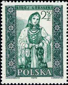 Polonia-Trajes Regionales-Traje femenino de Goralski