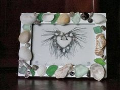 Seashell Photo Frame Nautical Picture Frame by AngelsNEverlastings, $16.00