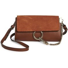 Chloe Mini Faye Leather   Suede Shoulder Bag ( 830) ❤ liked on Polyvore  featuring fa405e2ad7
