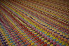 Crochet Square Rug/Rectangular Rug 67/52/170 by AnuszkaDesign