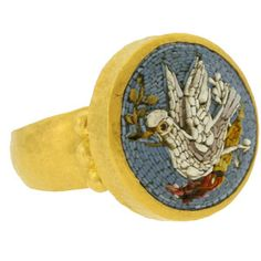 dove mosaic ring is somehow intriguing...better if it was a whale