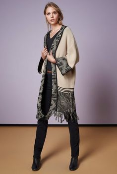 8c4fc4793af Aztec Kimono Sleeve Coatigan for Tall Women