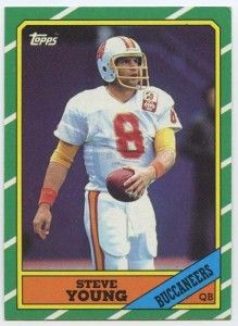 Steve Young 1986 Topps Rookie Card - San Francisco - Football Cards -  autographed NFL jerseys 5eec6c923