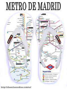 Chanclas Metro de Madrid