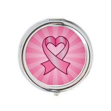 Breast Cancer Heart Ribbon Round Pill Box. Now through October 31, 2013, CafePress is donating 10%* from the final purchase price of breast cancer awareness products to The Breast Cancer Research Foundation®. Click to see this design on other products.