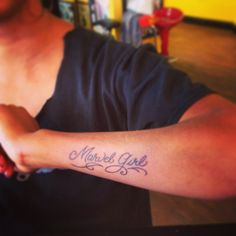 "My latest addition. ""Marvel Girl"" tattoo"