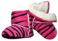 Pink Zebra Boots! Size 16-24 months. Hair Candy by Ashley (http://www.facebook.com/pages/Hair-Candy-By-Ashley/141432989256266)