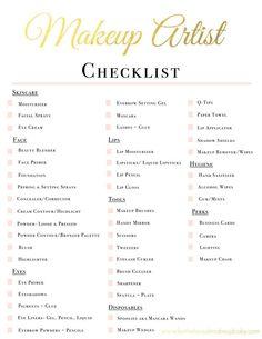 Makeup Artist Kit Checklist   www.fortheloveofm