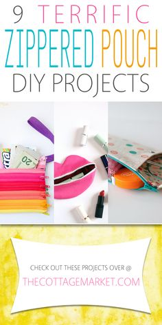 9 Terrific Zippered Pouch DIY Projects - The Cottage Market