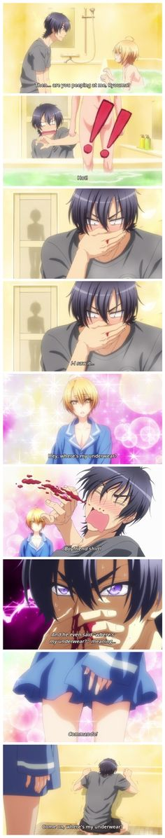 Love Stage!! ~~ Poor little movie star. He may need a blood transfusion if this keeps up... :: Izumi and Ryouma