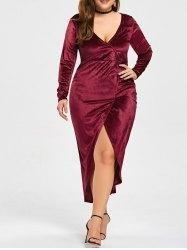 #Gamiss - #Gamiss Plus Size High Low Midi Bodycon Dress - AdoreWe.com