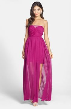 Hailey Logan Mesh Inset Gown (Juniors) (Online Only) available at #Nordstrom