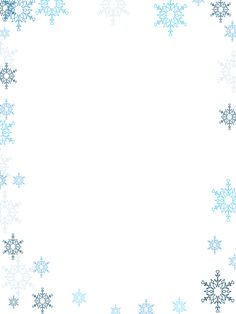 Christmas Border Coloring Pages Beautiful Winter Border Feature Education Boarder Designs, Page Borders Design, Free Printable Clip Art, Templates Printable Free, Christmas Border, Christmas Snowflakes, Png Tattoo, Page Boarders, Mistletoe And Wine