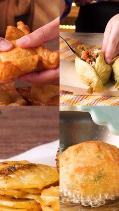 Mozzarella donuts with basil - Clean Eating Snacks Italian Recipes, Mexican Food Recipes, Cooking Recipes, Healthy Recipes, Croissants, Empanadas, Clean Eating Snacks, I Foods, Food Inspiration