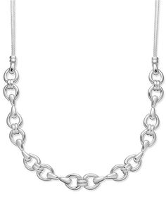 Giani Bernini Sterling Silver Polished Horse Bit Necklace