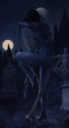 Death's embrace.