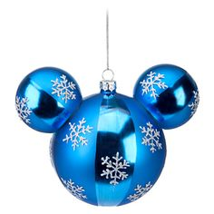 Disney Holiday Ornament - Mickey Ears Large - Blue w/ Glitter Snowflake 153320145 Snowflake Icon Mickey Mouse Ornament Item No. Mickey Mouse Christmas Tree, Mickey Mouse Ornaments, Disney Christmas Ornaments, Hallmark Ornaments, Christmas Snowflakes, Christmas Balls, Christmas Decorations, Holiday Decor, Christmas Things