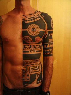Half body tribal tattoo - 70+ Awesome Tribal Tattoo Designs  <3 <3